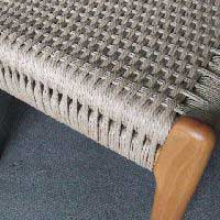 Danish cord double railed chair.